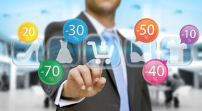 Businessman shopping online Royalty Free Stock Image