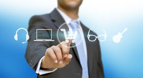 Businessman shopping online Stock Photography