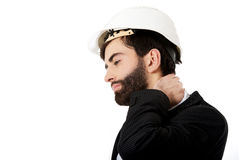 Businessman with shoulder pain. Royalty Free Stock Photo