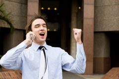 Businessman shout yes Royalty Free Stock Photography