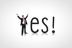 Businessman shout yes! Royalty Free Stock Photo
