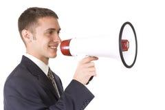 Businessman Shouting stock image