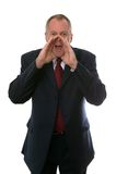 Businessman shouting Stock Photography