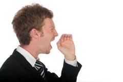 Businessman Shouting Stock Photos