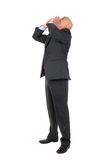 Businessman shouting Royalty Free Stock Photography