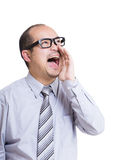 Businessman shouting Royalty Free Stock Images