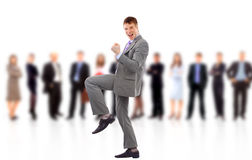 Businessman shouting loudly Stock Photography