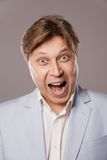 Businessman shouting Royalty Free Stock Photo