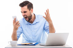 Businessman shouting Royalty Free Stock Image
