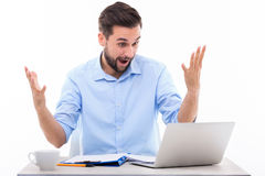 Businessman shouting Stock Images