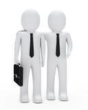 Businessman show Stock Images