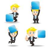 Businessman show App icon Stock Photo