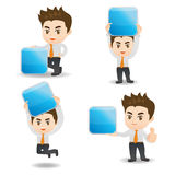 Businessman show App icon Royalty Free Stock Images