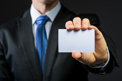 Businessman show blank business card Royalty Free Stock Images