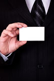 Businessman show blank card Royalty Free Stock Images