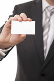 Businessman show business card Stock Photo