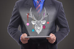 Businessman show chritsmas concept Stock Photos
