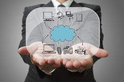 Businessman show cloud network Royalty Free Stock Image