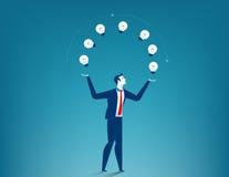 Businessman show creative. Concept business illustration. Vector flat Stock Images