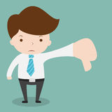 Businessman show hand with thumb down. Royalty Free Stock Photos