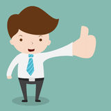 Businessman show hand with thumb up. Stock Photography