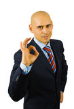 Businessman show ok sing Royalty Free Stock Photos