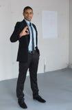 Businessman show positive sign Stock Image