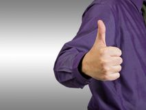 Businessman show thumb up Royalty Free Stock Photo