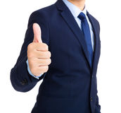 Businessman show thumb up Royalty Free Stock Photos