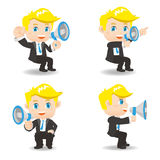 Businessman show trumpet Royalty Free Stock Photography