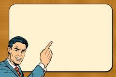 Businessman showing on Billboard background Stock Image