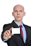Businessman showing blank sign Stock Photography