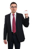 Businessman showing business card Stock Image