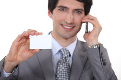 Businessman showing business card Royalty Free Stock Photography