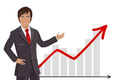Businessman Showing Chart vector illustration
