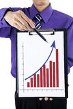 Businessman showing chart Royalty Free Stock Photo