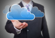 Businessman showing a Cloud Royalty Free Stock Images