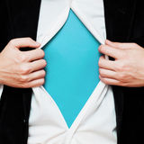 Businessman showing a copy space under his shirt Royalty Free Stock Photos