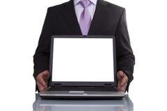 Businessman showing data Royalty Free Stock Image