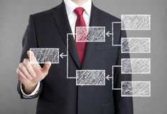 Businessman showing diagram Royalty Free Stock Photos
