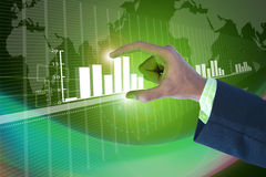 Businessman showing digital graph Stock Photography