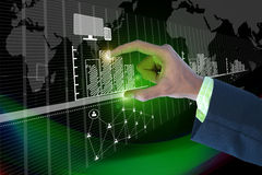 Businessman showing digital graph Stock Images