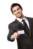 Businessman showing empty business card Stock Images
