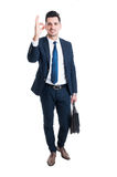 Businessman showing excellent or perfect gesture standing Stock Photography