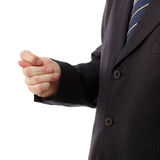 Businessman showing fig - gesture of contempt Royalty Free Stock Image