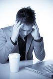 Businessman showing frustration Stock Images