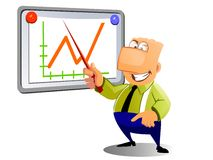 Businessman showing graph Royalty Free Stock Images