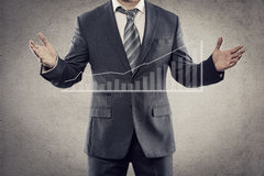 Businessman showing graph Stock Image