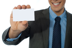 Businessman showing his card Stock Image