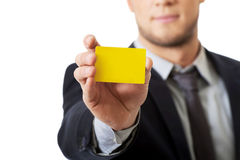 Businessman showing his personal card. Stock Images